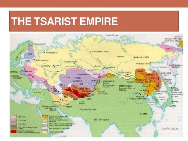 Tsarist Russia Map.Russian Revolution
