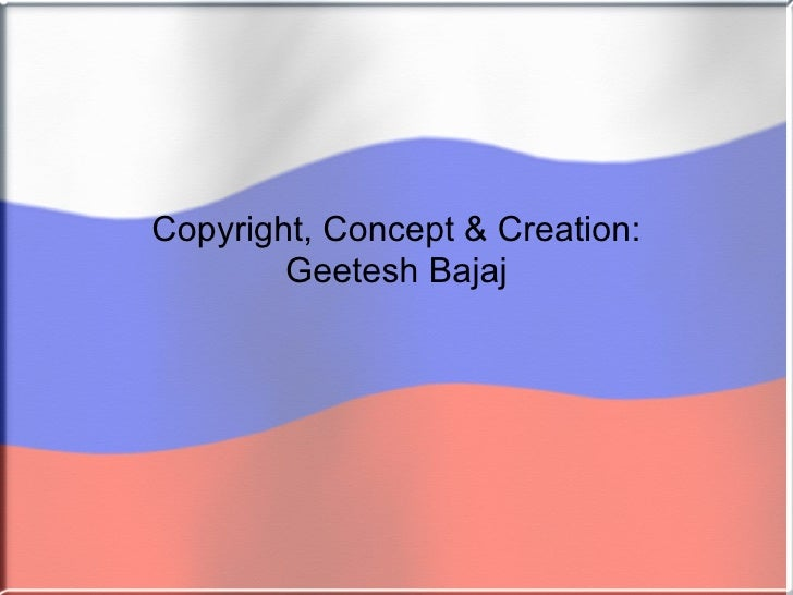 Russia Flag Powerpoint Presentation Template