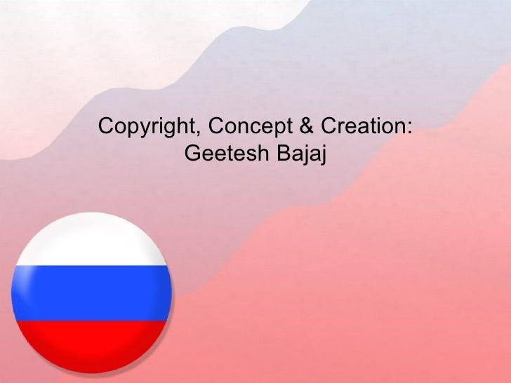 Russia flag powerpoint template flag ppt template copyright concept creation geetesh bajaj toneelgroepblik Images