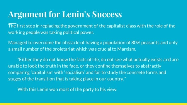 The Marxist Ideology in Russia