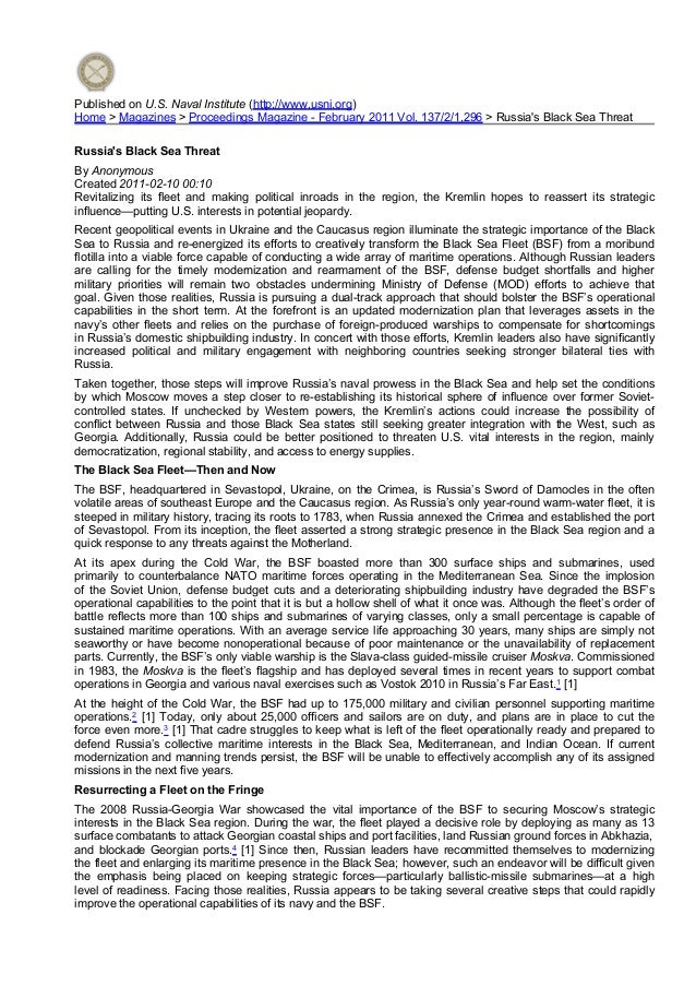 Published on U.S. Naval Institute (http://www.usni.org) Home > Magazines > Proceedings Magazine - February 2011 Vol. 137/2...