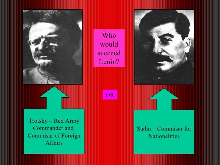 lenin vs trotsky essay Free essay on different schools of thought: marx versus lenin available totally free at echeatcom, the largest free essay community.