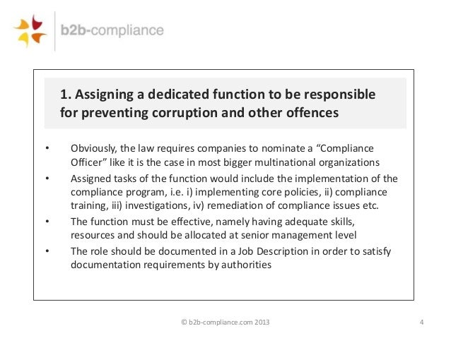 The new russian anti bribery law - Ethics compliance officer job description ...