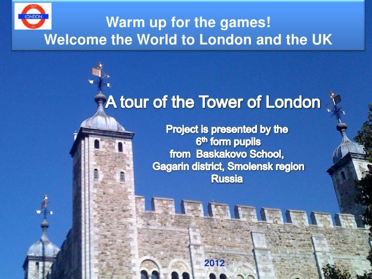 Warm up for the games!Welcome the World to London and the UK                     2012