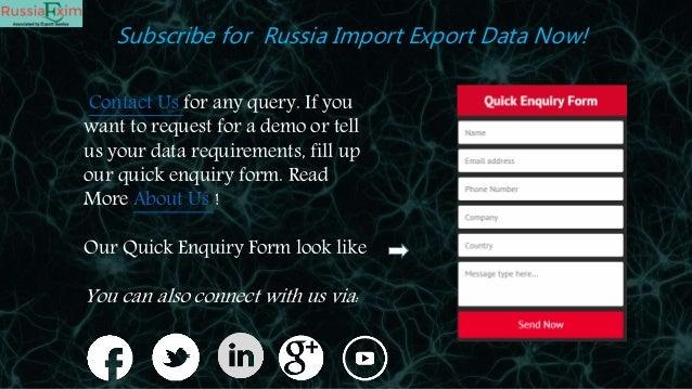Russia Import Export Data | Russian Customs Data | Trade Data
