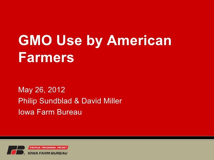 GMO Use by AmericanFarmersMay 26, 2012Philip Sundblad & David MillerIowa Farm Bureau