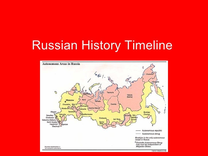 Russian History In Dates From 68