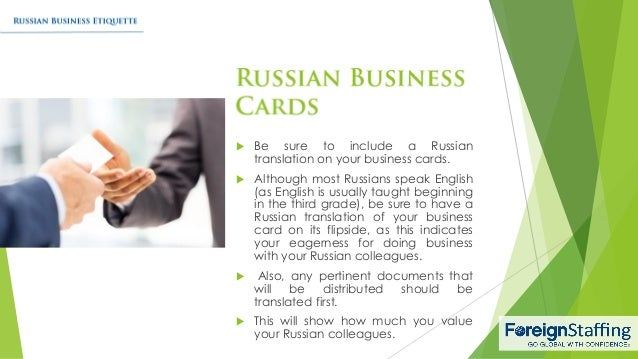 Russian business etiquette reheart Choice Image