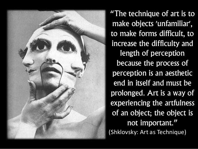 Viktor Shklovsky Art As Technique Pdf