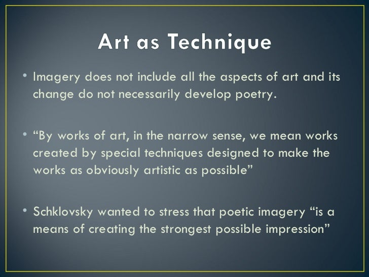 shklovsky art as technique