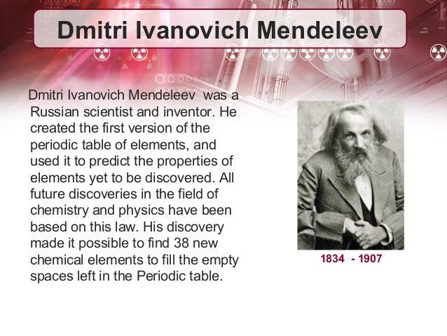 dmitri mendeleev life