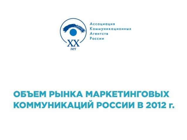 Russian marketing communications 2012