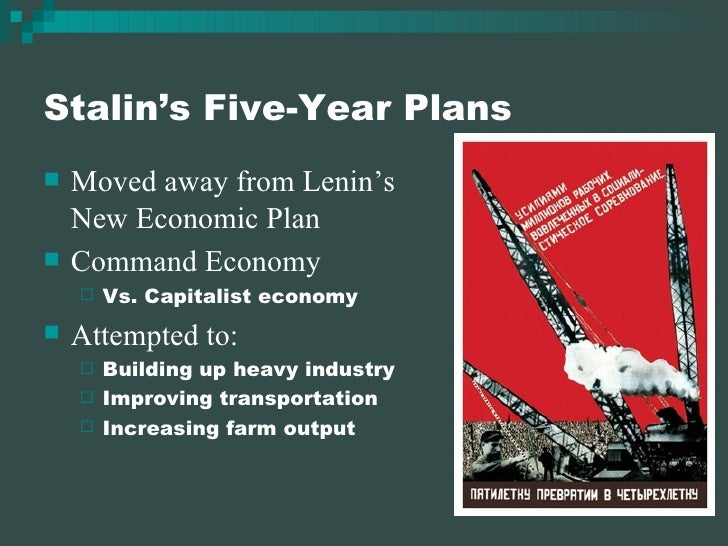 stalin s five year plan speech Search national review joseph stalin's state-run media denouncing political nonconformists for refusing to applaud the leader and his five-year plan.