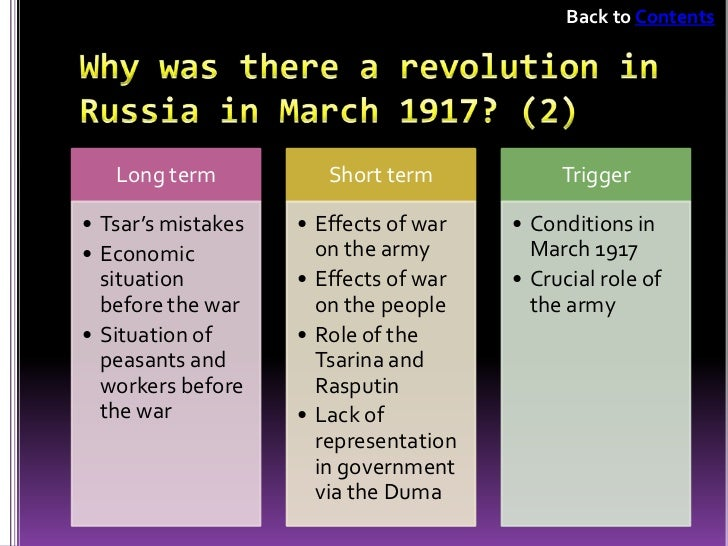 Russian revolution cause and effect essay