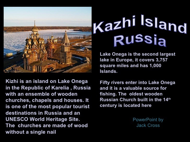 Lake Onega is the second largest                                      lake in Europe, it covers 3,757                     ...