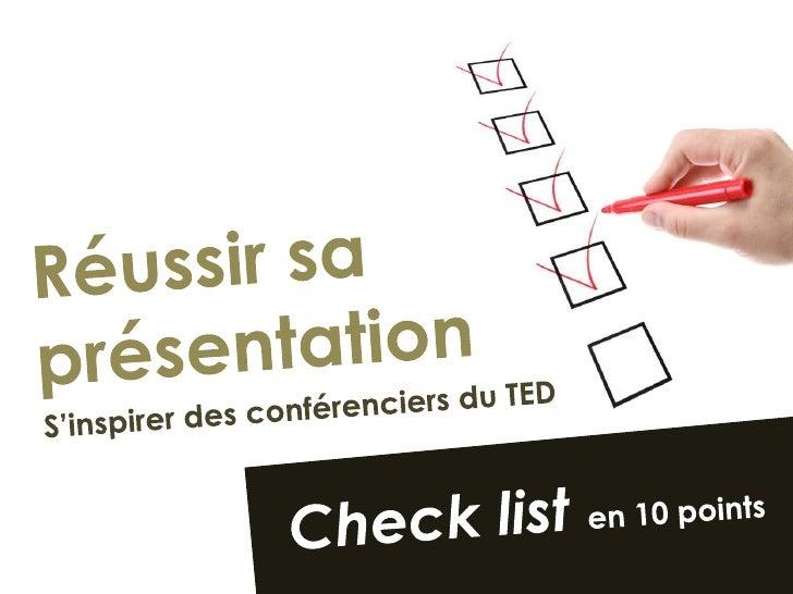 Réussir sa présentation : Conseils du TED