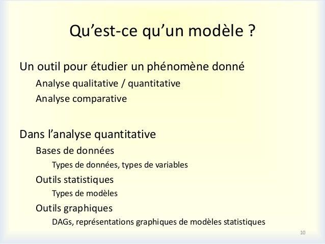 Qu'est-ce qu'un modèle ?Un outil pour étudier un phénomène donné   Analyse qualitative / quantitative   Analyse comparativ...