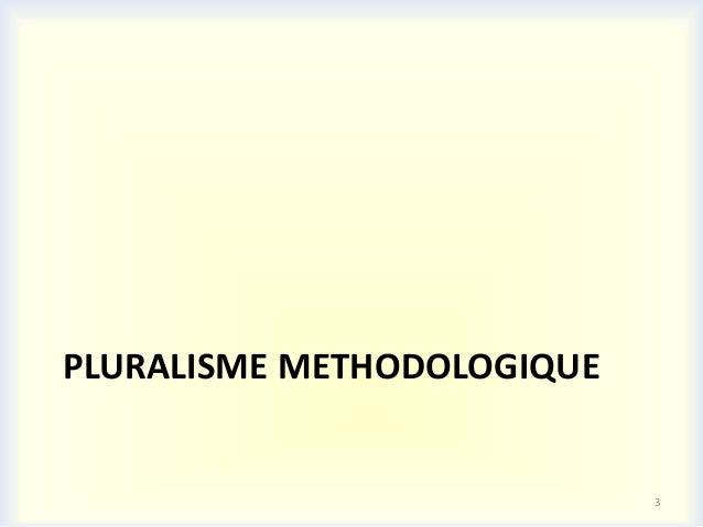 PLURALISME METHODOLOGIQUE                            3