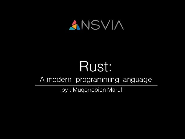 Rust system programming language