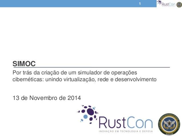 SIMOC Por trás da criação de um simulador de operações cibernéticas: unindo virtualização, rede e desenvolvimento 13 de No...