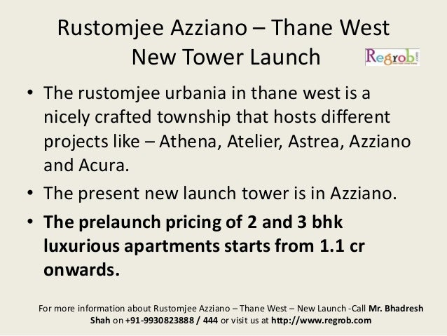 Rustomjee Acura Thane 2 Bhk Flat On Rent In Rustomjee