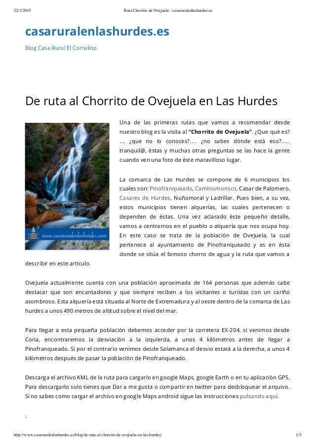 22/1/2015 Ruta Chorrito de Ovejuela - casaruralenlashurdes.es http://www.casaruralenlashurdes.es/blog/de-ruta-al-chorrito-...