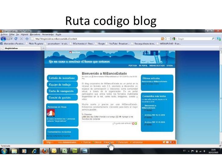 Ruta codigoblog<br />