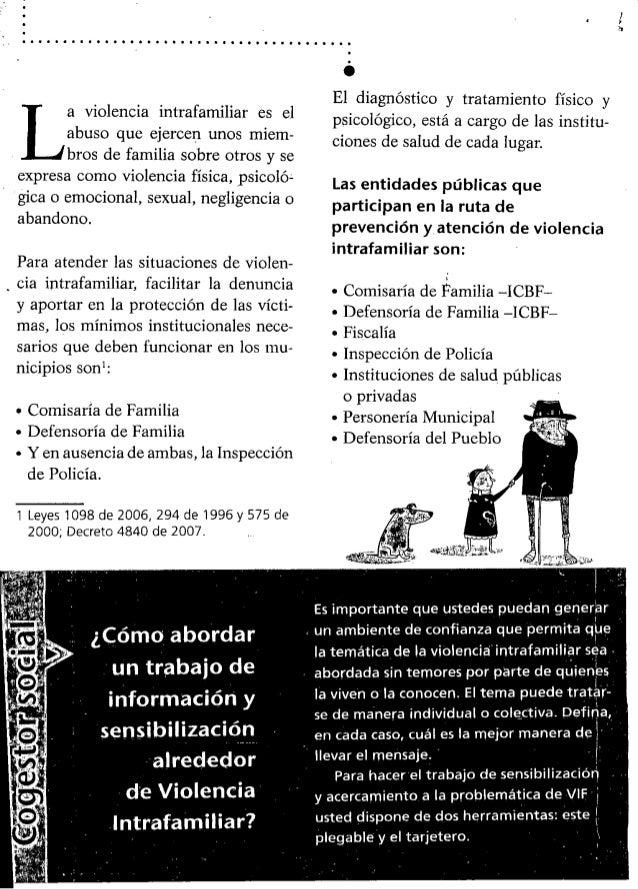 Ruta de acceso para la prevencion y la atencion de violencia intrafamiliar Slide 2