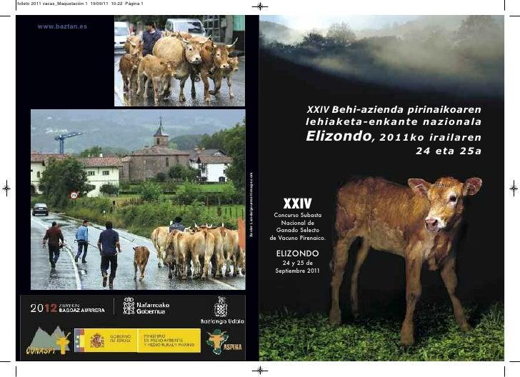 folleto 2011 vacas_Maquetación 1 19/09/11 10:22 Página 1         www.baztan.es                                            ...