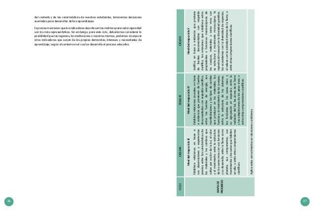 26 27 CICLOCICLOIIICICLOIVCICLOV MAPADE PROGRESO NiveldelmapacicloIII Establecerelacionesenbasea susobservacionesyexperien...