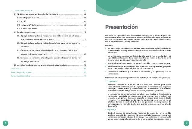 4 5 Presentación Las Rutas del Aprendizaje son orientaciones pedagógicas y didácticas para una enseñanza efectiva de las c...