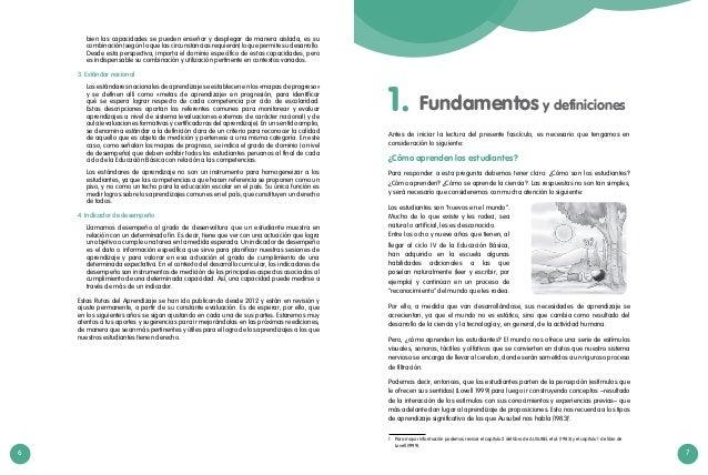 6 7 Fundamentos y definiciones1. Antes de iniciar la lectura del presente fascículo, es necesario que tengamos en consider...