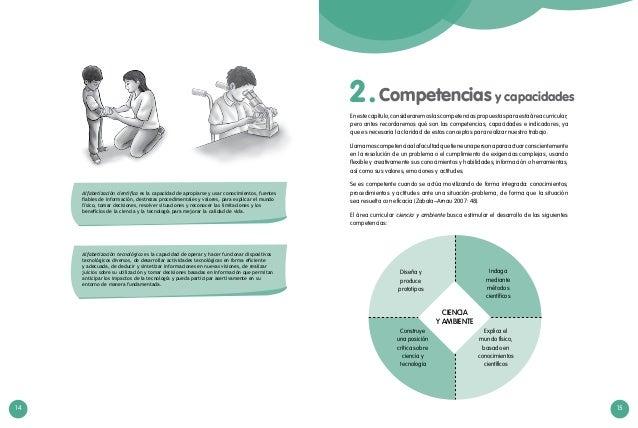 14 15 Competencias y capacidades2. Enestecapítulo,consideraremoslascompetenciaspropuestasparaestaáreacurricular; pero ante...
