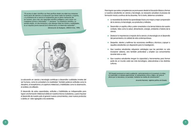 """8 9 """"El acceso al saber científico con fines pacíficos desde una edad muy temprana forma parte del derecho a la educación ..."""