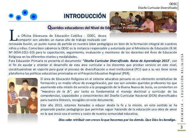 Rutas de aprendizaje Religión ODEC CHICLAYO Slide 2