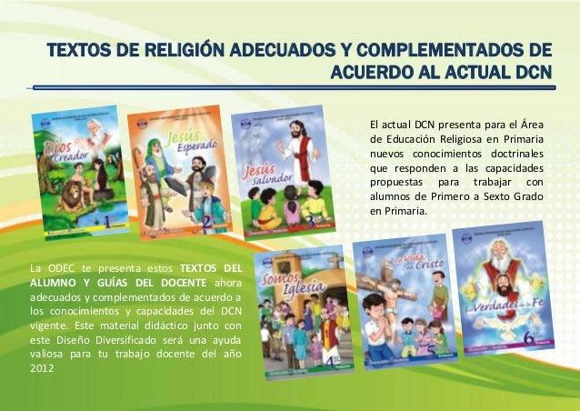 Rutas de aprendizaje Religión ODEC CHICLAYO