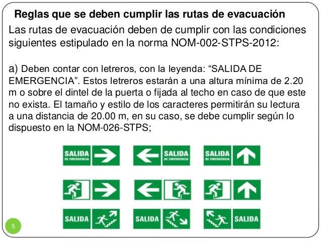 Rutas de evacuaci n y salidas de emergencias for Cuales son las caracteristicas de la oficina