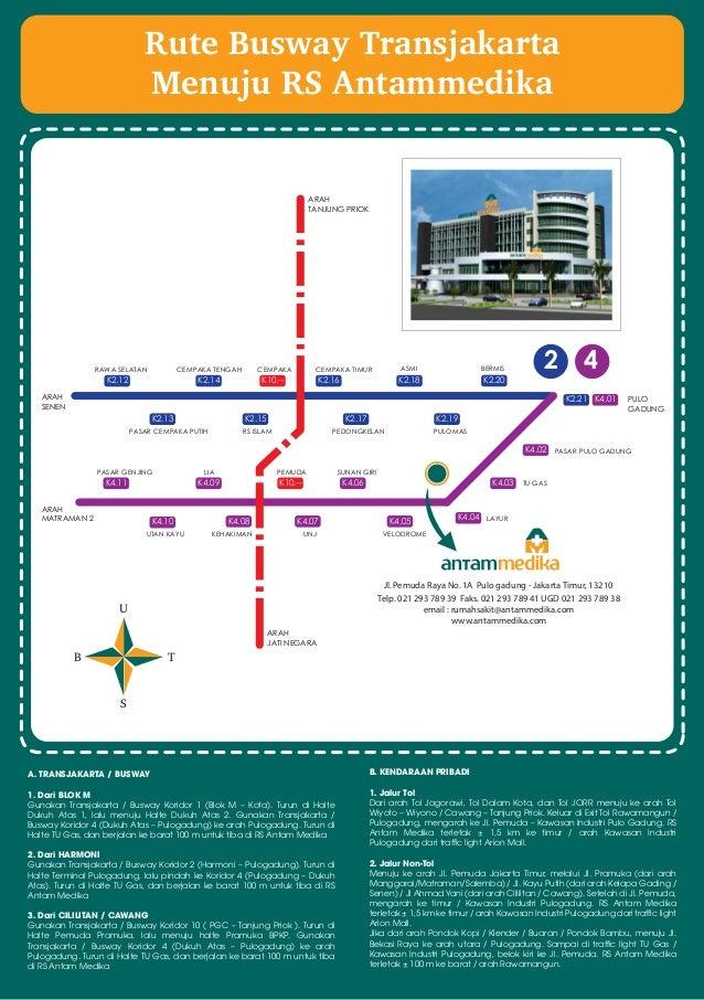 Rute Busway Transjakarta Rs Antam Medika