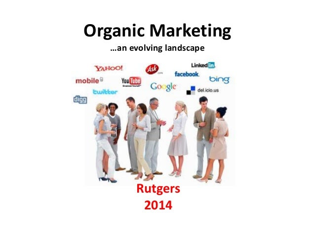 Organic Marketing …an evolving landscape Rutgers 2014