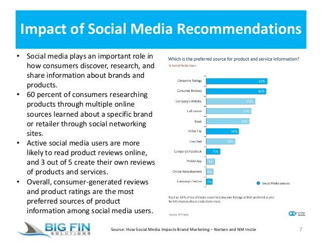 Impact of Social Media Recommendations 7 • Social media plays an important role in how consumers discover, research, and s...