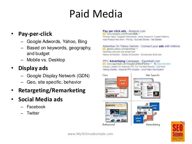 www.MySEOmadesimple.com Earned Media • Content – Unique and engaging – Frequent • Brand Mentions • Shares – Has direct imp...