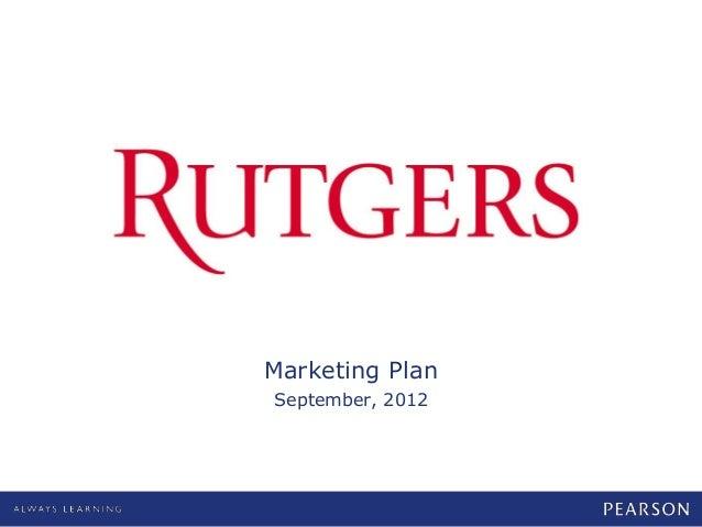 0Marketing PlanSeptember, 2012