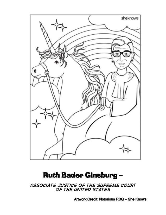 Ruth bader-ginsburg-unicorn-coloring
