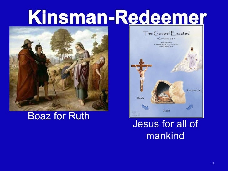 Boaz for Ruth Jesus for all of mankind Boaz for Ruth