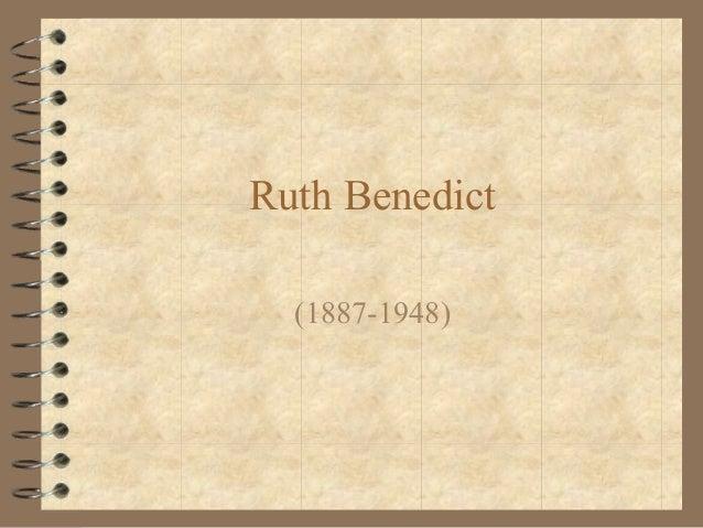 Ruth Benedict(1887-1948)