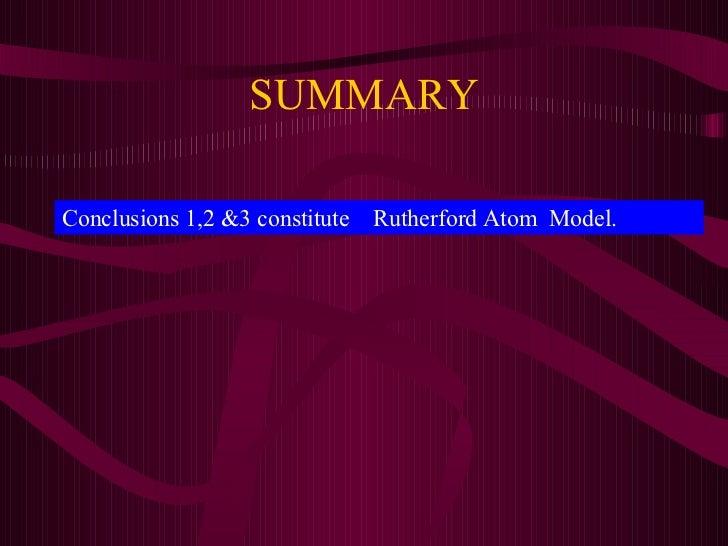 rutherford model of atom pdf