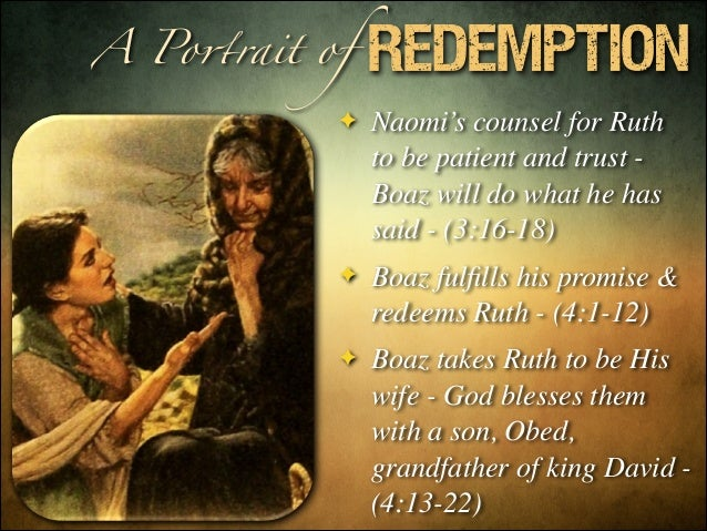 Ruth A Portrait Of Redemption