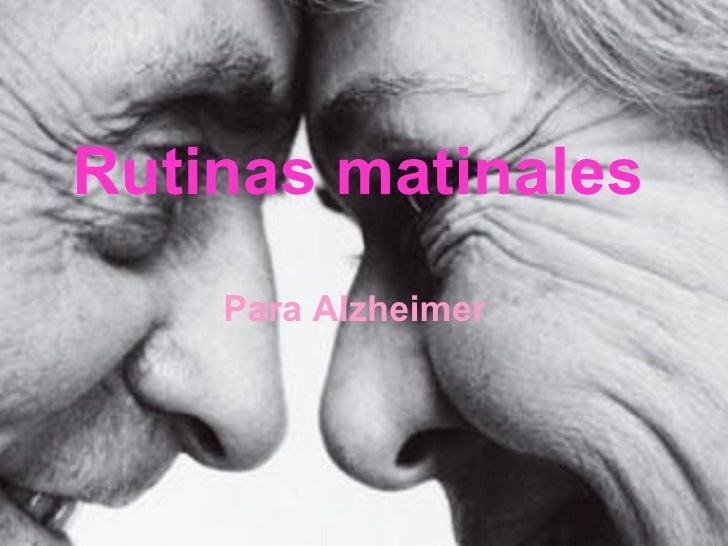 Rutinas matinales Para Alzheimer