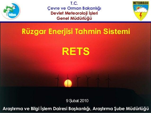 T.C.                     Çevre ve Orman Bakanlığı                      Devlet Meteoroloji İşleri                         G...