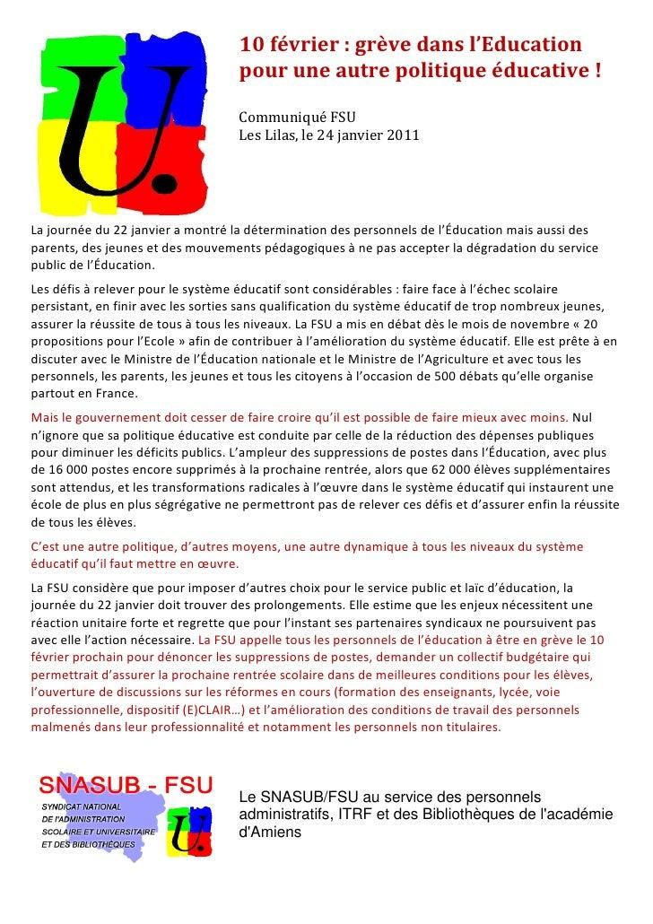 Grève dans l'Education Nationale Slide 3